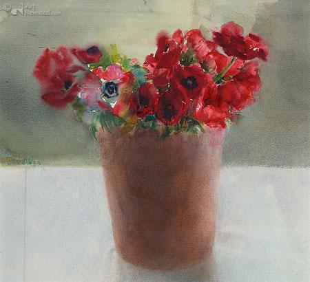 Rode anemonen