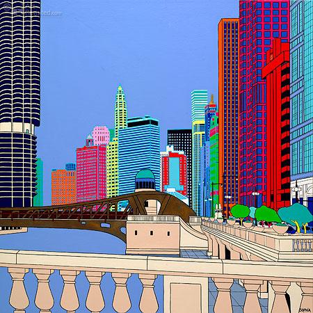 Lasalle street Chicago