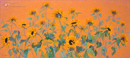 Zonnebloemen groot - goud
