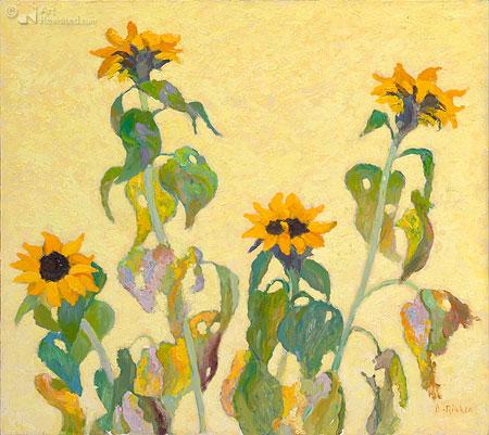 Zonnebloemen geel I
