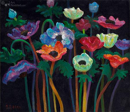 Anemonen, blauw-violet