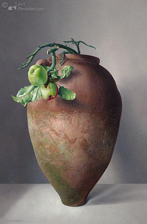 Griekse kruik met wilde appels