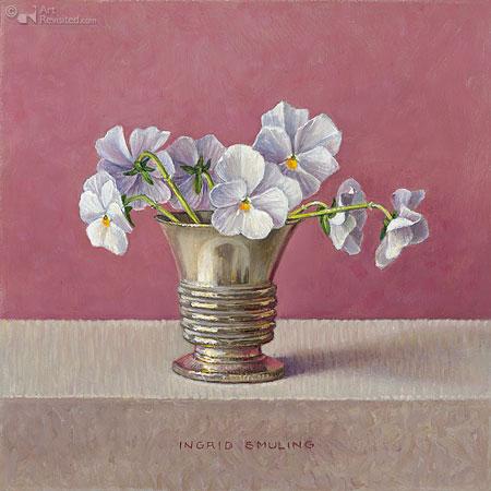 Kleine witte viooltjes
