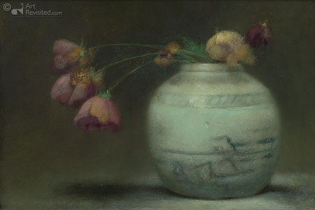 Gemberpot met roos