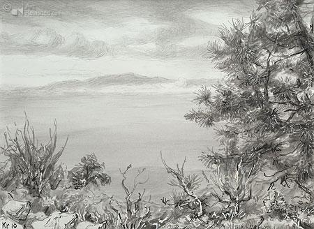 La Gomera met voorgrond