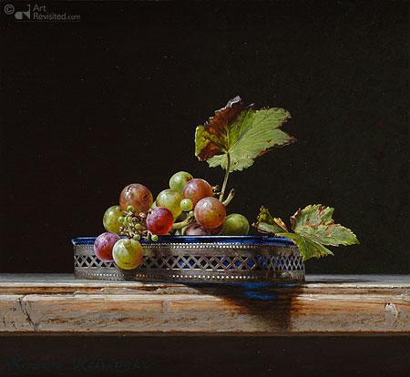 Stilleven met wilde druiven