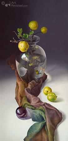 Siercitroenen in rookglas