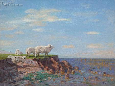 Paessens Moddergat met schapen, ( of : De Groningers en de NAM )