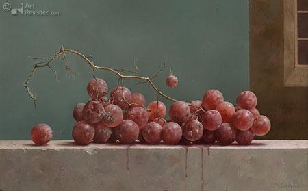 Stilleven met ouwe druiven