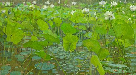 Lotus pont, pleine-air study