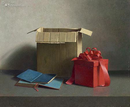 Stilleven met cadeau