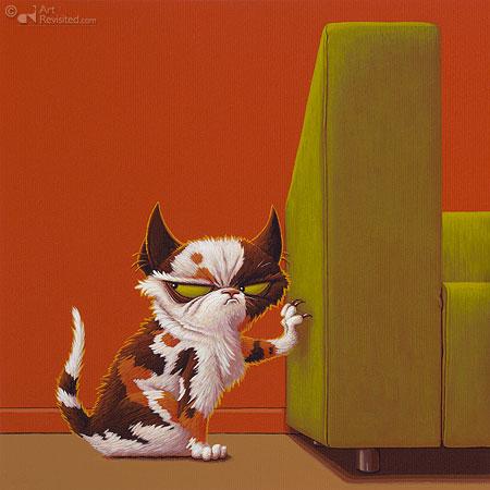 Kat en bank