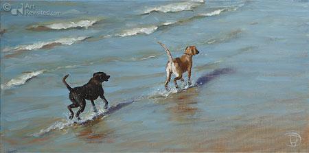 Twee zeehonden