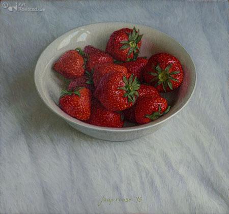 Schaaltje aardbeien