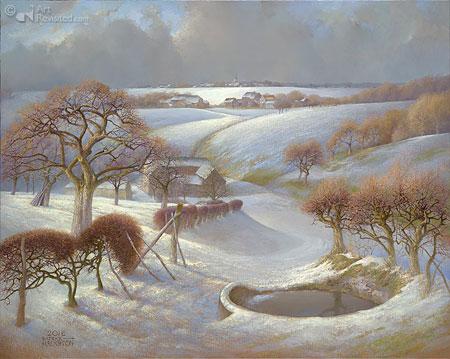 Winterlandschap bij Noorbeek