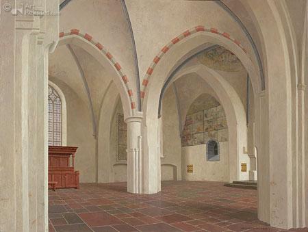 De oude kerk van Delden (gezicht naar het noord oosten)