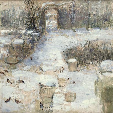 Tuin in Ezinge winter
