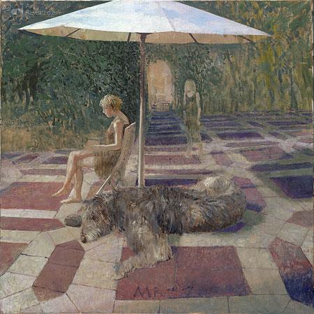 Patje, hond en dochter
