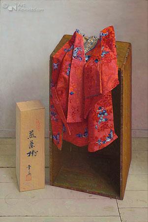 Chinees jasje van rode zijde