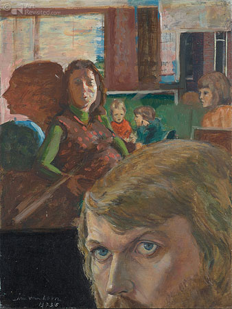 Zelfportret met gezin