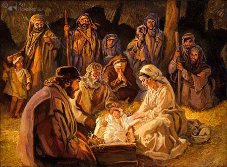 De aanbidding der herders (Luk.2)