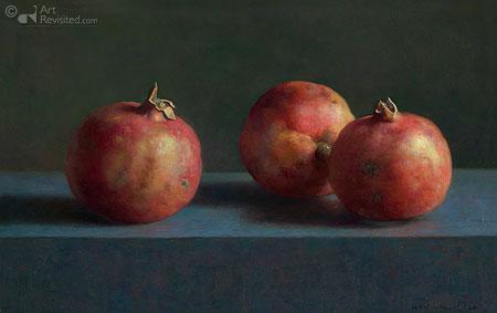 Drie granaatappels