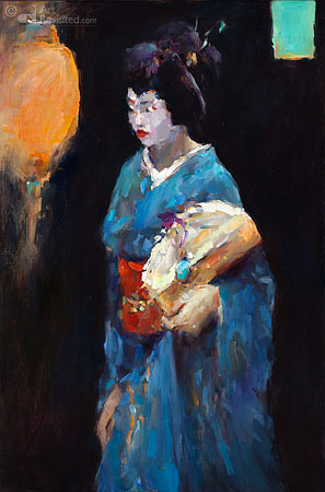 Geisha met lampion