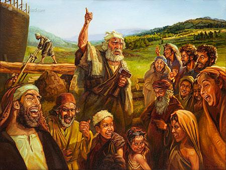 Noah preaching (Gen. 6, 2 Peter 2: 5)