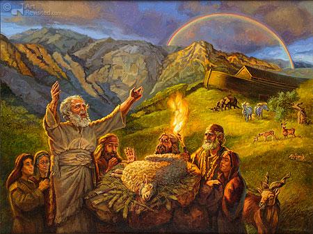 Noah's sacrifice (Gen. 8)
