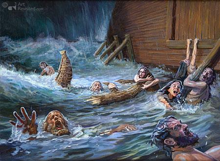 De ark gesloten (Gen. 7)