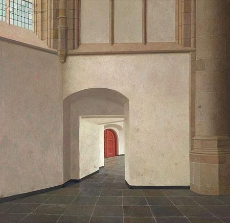 De kooromgang van de Grote Kerk in Dordrecht