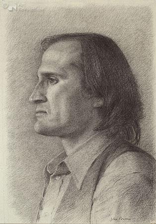 Portret man, profiel