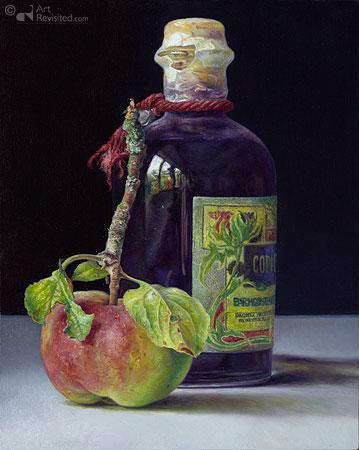 Inkt flesje met wild appeltje