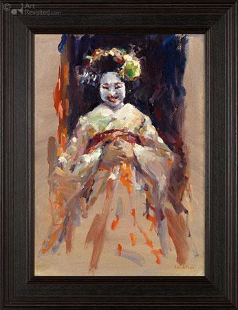 Lachende Geisha