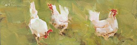 Kipjes in het veld