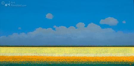 Gele tulpenvelden