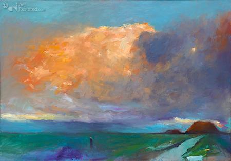 Oranje wolk