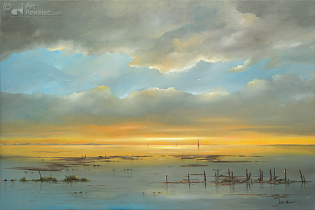 Sunset at the Wadden Sea