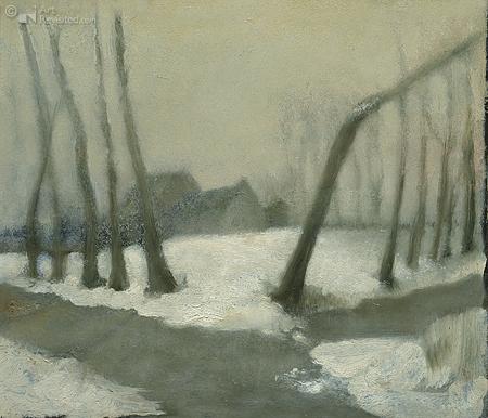 Dorpsterweg in sneeuw