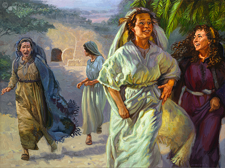 De vrouwen na de opstanding van Jezus