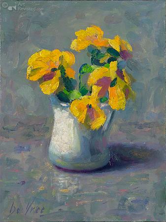 Gele viooltjes