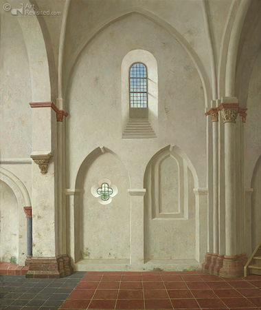 Zicht op de zuidmuur van de kerk van Oldenzijl