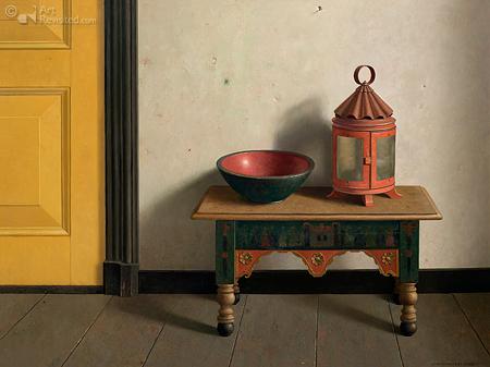 In de keuken van De Weem (compositie met gele deur)