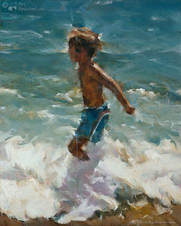 Jongen in zee