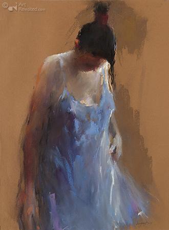 Model in blauw