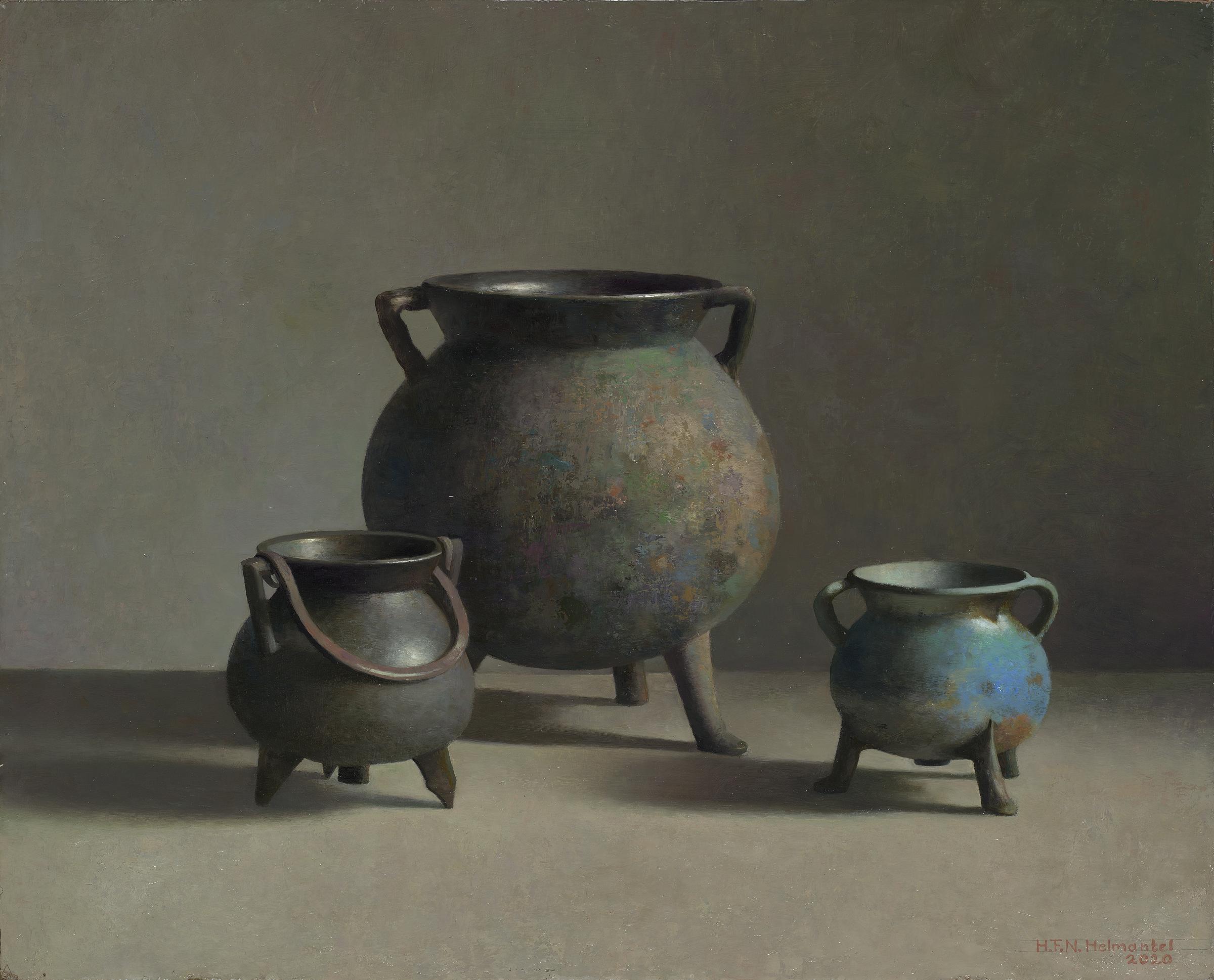 Bronzen kookpotten
