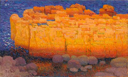 Rotsen La Mesa in avondlicht
