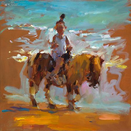 Paardje rijden