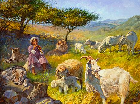 Visioen van het vrederijk (Jes. 11:6)