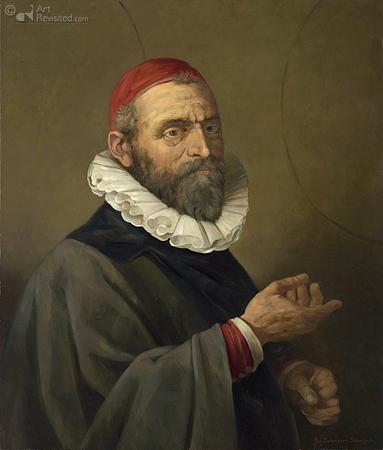 Tweede portret Jan Pieterszoon Sweelinck naar gravure  Jan Harmensz. Muller